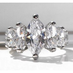 STAINLESS STEEL AAA CZ Marquise Ring Sizes 5-10